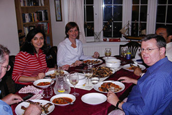 English homestay UK meal